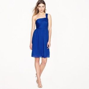 J Crew Lucienne One Shoulder Dress Size 4